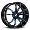 F2.01 Black/Blue Center, Black Lip 5 lug
