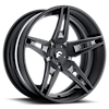 5 LUG F2.10 BLACK/GREY CENTER, BLACK LIP