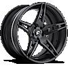 6 LUG F2.10 CARBON/BLACK CENTER, BLACK LIP