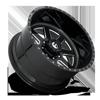 8 LUG FF09 GLOSS BLACK & MILLED
