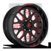 6 LUG FF19 GLOSS BLACK W/ CANDY RED