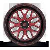 6 LUG FF19 STRYKER VIPER RED W/ GLOSS BLACK