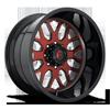 8 LUG FF19 GLOSS BLACK W/ STRYKER VIPER RED
