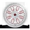 8 LUG FF19 BRUSHED W/ RUBY RED WINDOWS