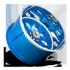 8 LUG FF19 PEEKA BLUE W/ POLISHED LIP