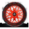 5 LUG FF19 CANDY RED W/ GLOSS BLACK