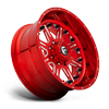 8 LUG FF25 CANDY RED & MILLED
