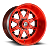 8 LUG FF25 BRUSHED CANDY RED W/ SACRED RED WINDOWS