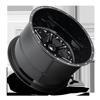 5 LUG FF25 GLOSS BLACK & MILLED