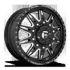 FF26D - 10 Lug Front Gloss Black & Milled 10 lug