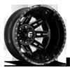FF26D - Rear Gloss Black & Milled 8 lug