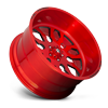 5 LUG FF37 BRUSHED CANDY RED W/ GLOSS BLACK WINDOWS