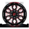 8 LUG FF37 GLOSS BLACK W/ RED WINDOWS