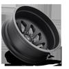 10 LUG FF39D - 10 LUG REAR MATTE BLACK W/ GLOSS BLACK ACCENTS