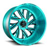 FF41 - 5 Lug Brushed Cortez Teal 5 lug