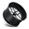 5 LUG FF45 - 5 LUG GLOSS BLACK W/ WHITE WINDOWS