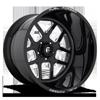 5 LUG FF45 - 5 LUG GLOSS BLACK & MILLED