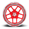 5 LUG FF45 - 5 LUG CANDY RED W/ POLISH LIP
