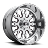 8 LUG FF45D - SUPER SINGLE FRONT POLISHED W/ GRANITE CRYSTAL WINDOWS