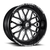 FF45 - 8 Lug Gloss Black and White 8 lug