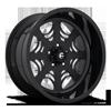 5 LUG FF49 MATTE BLACK W/ GLOSS BLACK LIP