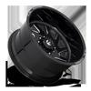 10 LUG FF65D - SUPER SINGLE FRONT GLOSS BLACK & MILLED
