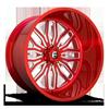 FF66 - 8 Lug Candy Red & Milled 8 lug