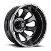 Flow Dually Rear - D269 Granite Crystal Metallic/Gloss Black 8 lug