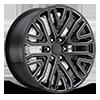Style 93 Gloss Black Milled 6 lug