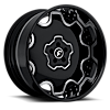 5 LUG FIORE BLACK/CHROME CENTER, BLACK LIP