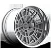 Shelby - F418 Concave Textured Grey w/ Diamond Cut Lip 5 lug
