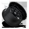 8 LUG FF25 GLOSS BLACK & MILLED W/ OVAL DIMPLES