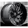 Cleaver - D239 Gloss Black & Milled 8 lug