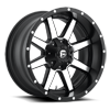 Maverick - D537 Black & Machined 8 lug