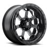 Savage - D563 Gloss Black w/ Milled Through Windows 6 lug