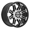 5 LUG 741 MECHANIC GLOSS BLACK WITH MIRROR MACHINED ACCENTS