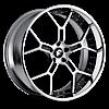 GTR Satin/Black Center, Chrome Lip 5 lug