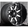 Maverick - D537 Matte Black & Machined Face 5 lug