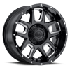 743 Armor Gloss Black Milled Spokes 6 lug