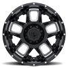 5 LUG 743 ARMOR GLOSS BLACK MILLED SPOKES