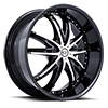 Crown Black w/ Chrome Inserts 5 lug