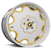 6 LUG FIORE WHITE/GOLD CENTER, WHITE LIP