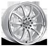 211 Bonzai Titanium Silver Machined Lip 5 lug