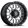 6 LUG ALPHA MACHINED FACE WITH BLACK RING