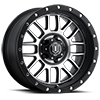 5 LUG ALPHA MACHINED FACE WITH BLACK RING