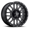 5 LUG ALPHA BLACK WITH MACHINED WINDOWS AND BLACK RING