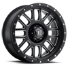 6 LUG ALPHA BLACK WITH MACHINED WINDOWS AND BLACK RING