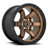 Kicker 6 - D699 Bronze Center w/ Black Lip 6 lug