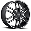 KM678 Splinter Gloss Black 5 lug