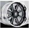 XD202 Gloss Black Milled 8 lug